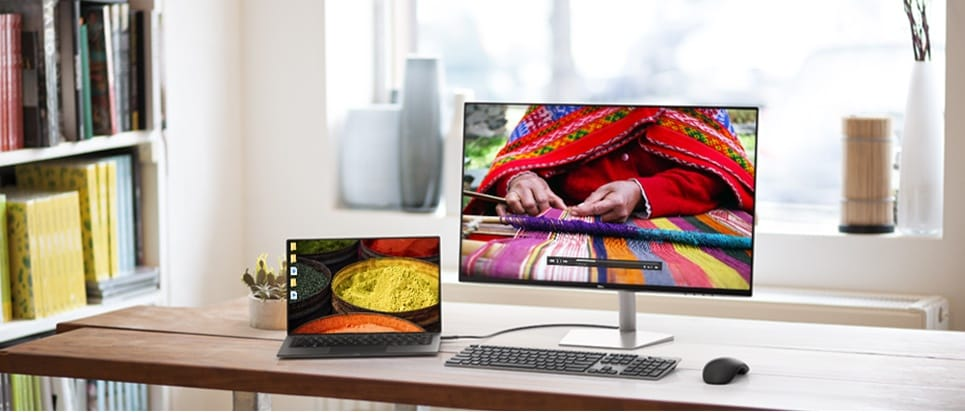 Dell S2719DC Monitor - Design that shines. Any way you look.