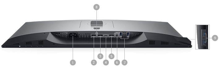 Écran Dell U2719DC : options de connectivité