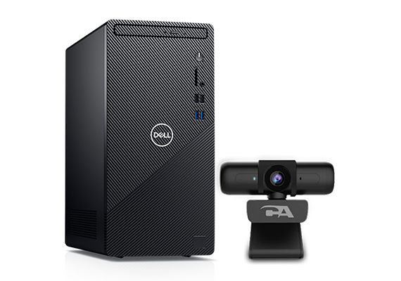 Dell Inspiron (3880) Desktop with Intel 6 Core i5-10400 / 12GB RAM / 1TB HDD & 256GB SSD / Windows 10 + CA Essential Webcam 1080HD-AF
