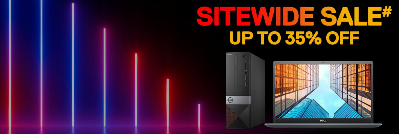 Sitewide Sale# on all laptops & desktops: Up to 35% off