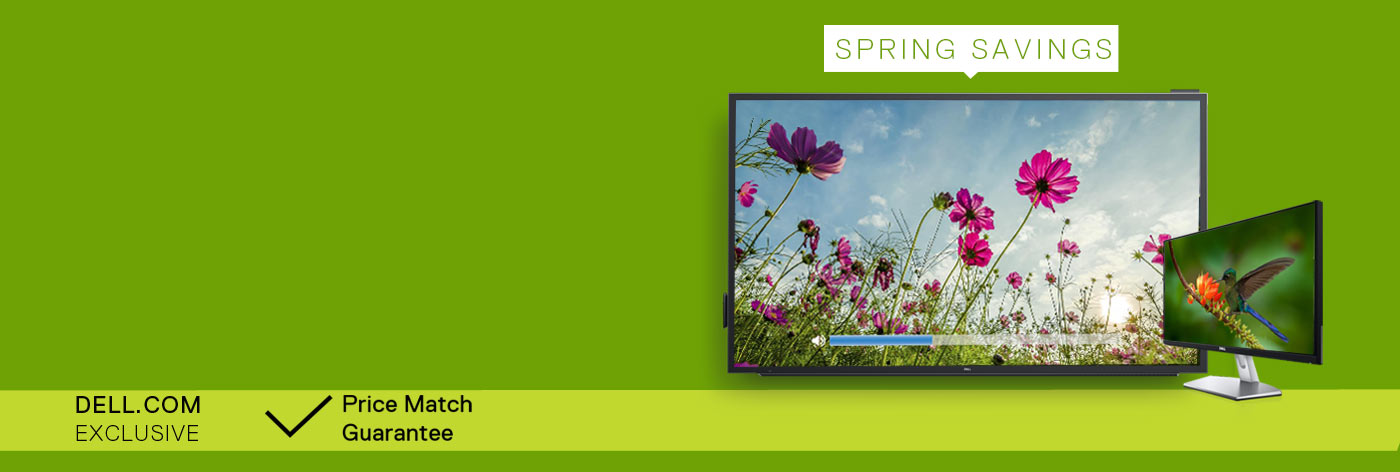 Spring Savings : Up to 30% off selected monitors.