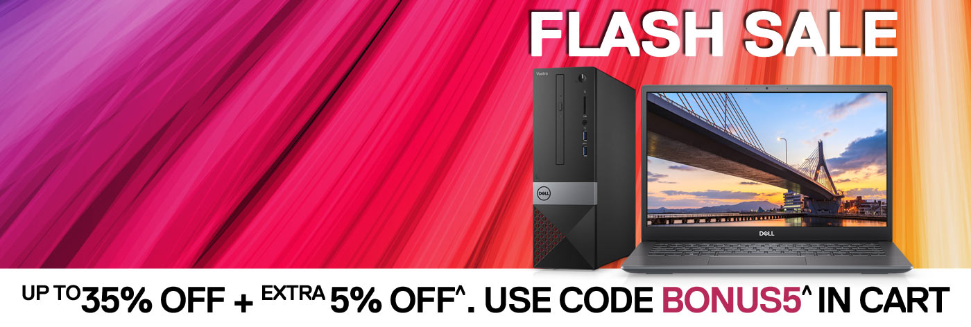 Flash Sale: Up to 35% off + Extra 5% off^ selected Vostro.