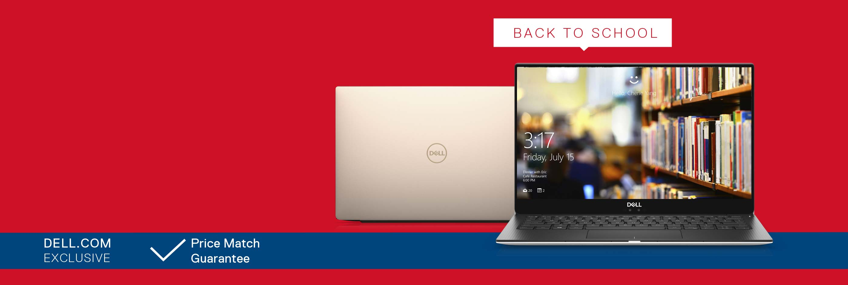 Up to 20% off selected XPS laptops.