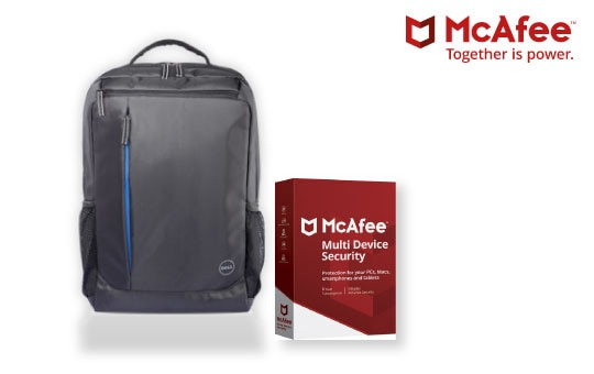 Free Dell Essential backpack with McAfee!