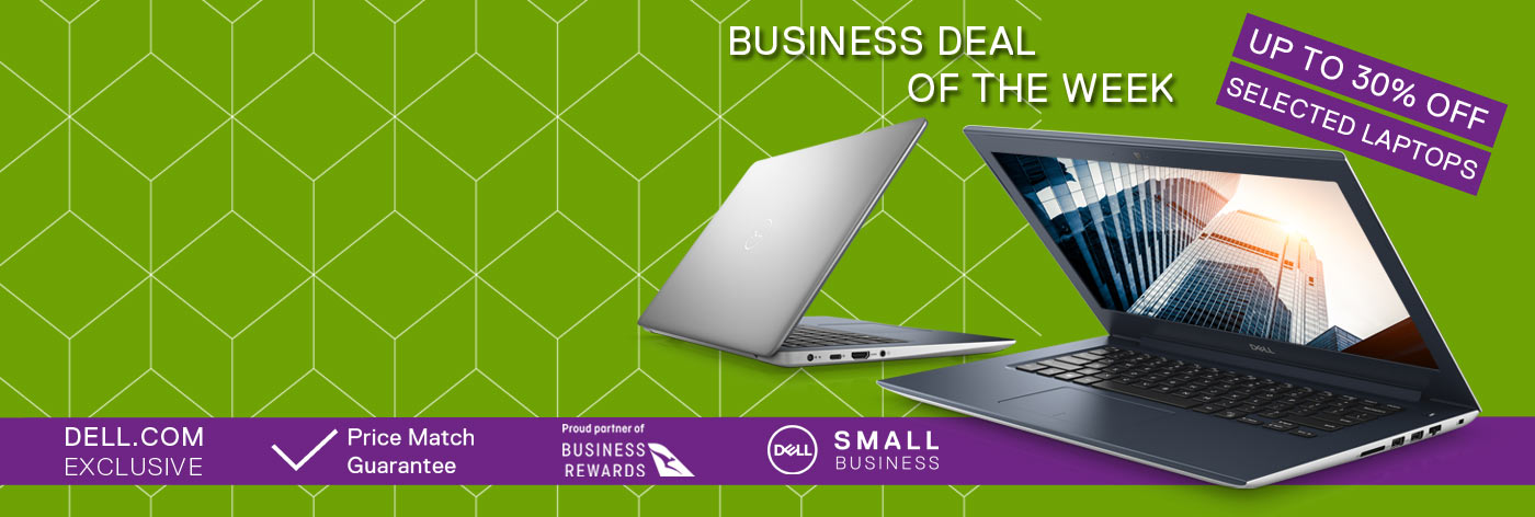 Up to 30% off selected business laptops.