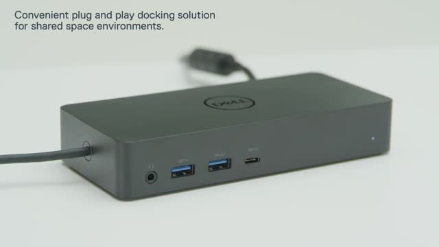 Black Dell 452-BCYT D6000 Universal Dock