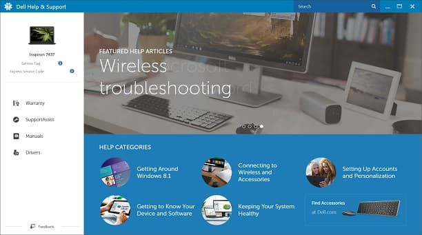 Dell Help and Support screenshot 2