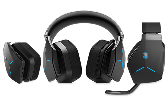 Hear the heart of the action with the new Alienware wireless headset.