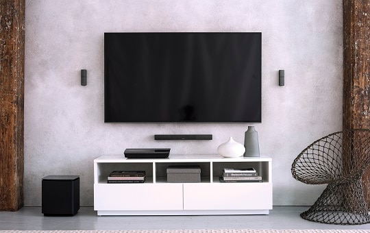 Surround yourself in sound with a new home theater system.