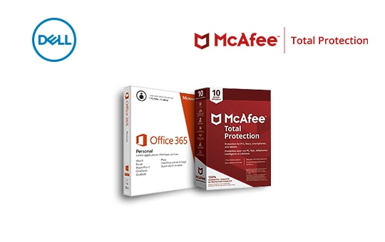 Purchase McAfee Total Protection (10 Devices) (AA021760) and enjoy Office 365 Personal (A7608145) at 50% off.