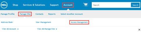 AcNavigate to Access Managementcess Management