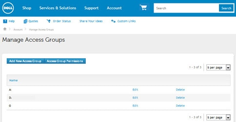 Manage AcManage Access Groupscess Groups