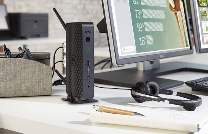 Wyse 3000 Series thin client desktop
