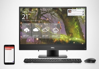 COMPUTADOR ALL IN ONE DELL INSPIRON IONE-3277-U10 - Combine seus dispositivos com o Dell Mobile Connect.