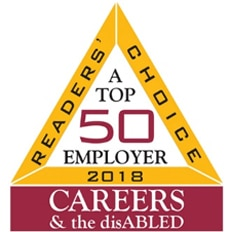 Top 50 employers in Careers and the disabled magazine