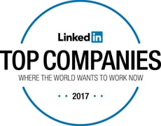 LinkedIn top companies where the world wants to work now