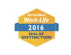 Ocenění: Work-life 2016 seal of distiction