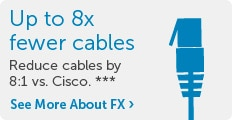 Upto 8x fewer cables