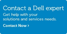 Talk to Dell about solutions and services.