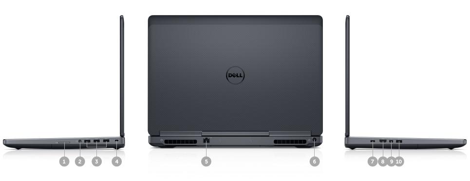 Dell Precision 15 7000 Series (7510) - Cổng & khe cắm