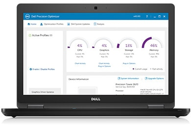 Precision 17 7720 - Improve productivity with Dell Precision Optimizer