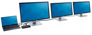 dell-1022-docks  – Supports one Ultra HD 4K display and two Full HD displays