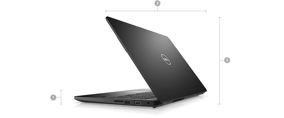 Latitude 15 3580 Laptop - Dimensions & Weight