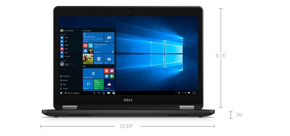 Latitude 14 7470 Series Ultrabook Dimensions and weight