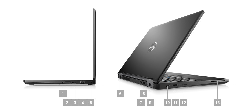 Latitude 5590 laptop - Ports  Slots