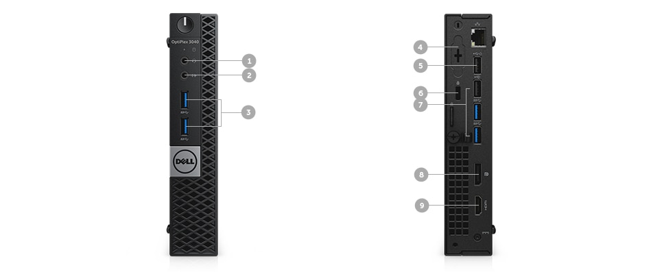optiplex 3040m desktop - Ports and Slots