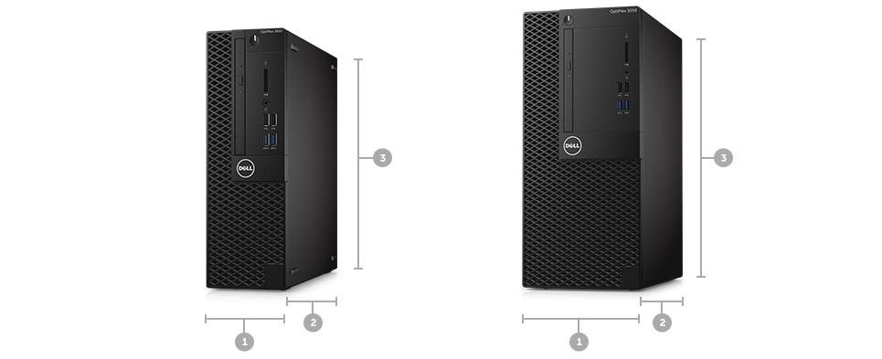 Optiplex 3050 Desktop - Dimensions & Weight