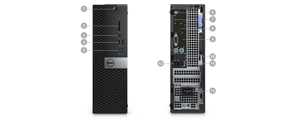 OptiPlex 5050 Tower and Small Form Factor - Ports & Slots – Small Form Factor