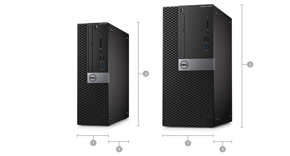 OptiPlex 5050 Tower and Small Form Factor - Dimensions & Weight
