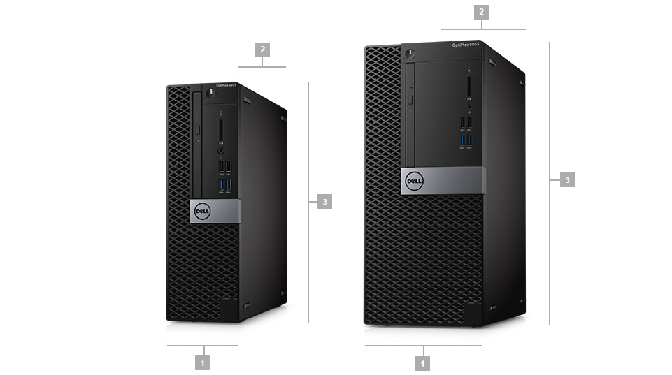 Optiplex 5055 Desktop - Dimensions & Weight