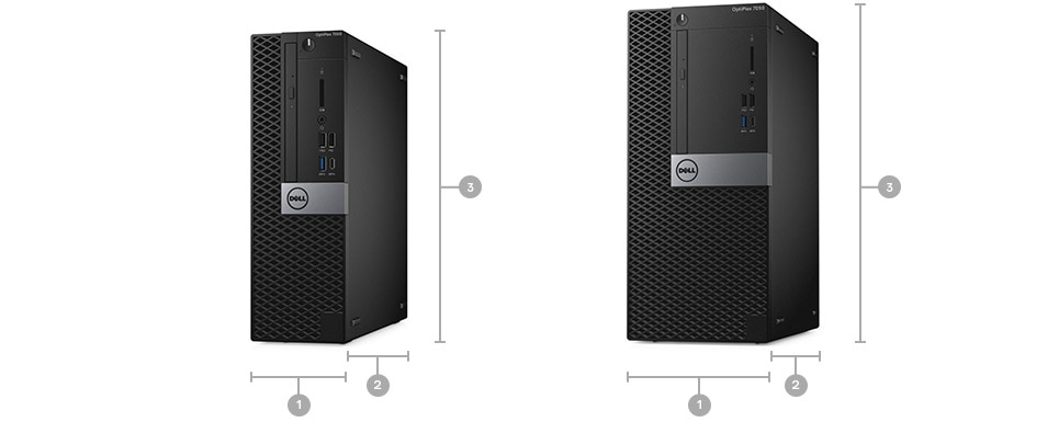 New OptiPlex 7050 Tower & Small Form Factor - Dimensions & Weight