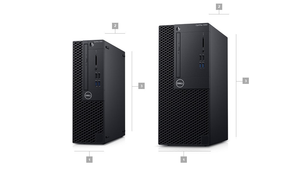 Optiplex 3060 desktop - Dimensions & Weight