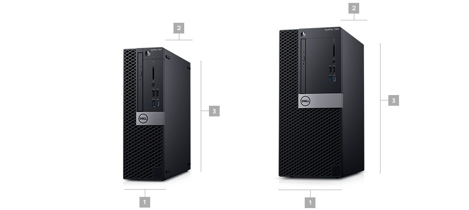 Optiplex 7060 desktop - Dimensions & Weight