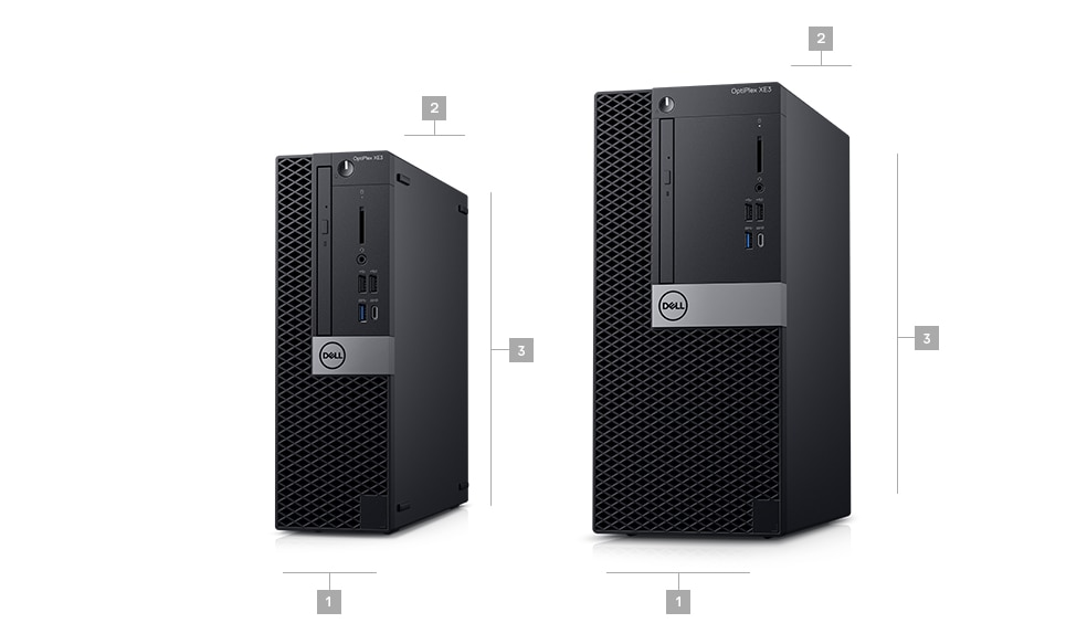 optiplex-xe3 - Dimensions & Weight