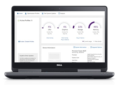 Precision 15 7520 - Improve productivity with Dell Precision Optimizer