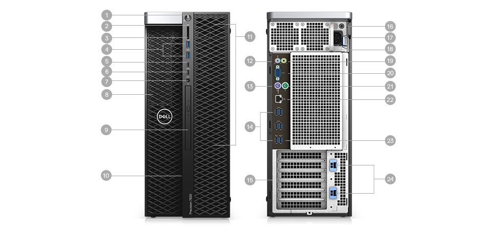 Precision 5820 Tower - Ports & Slots