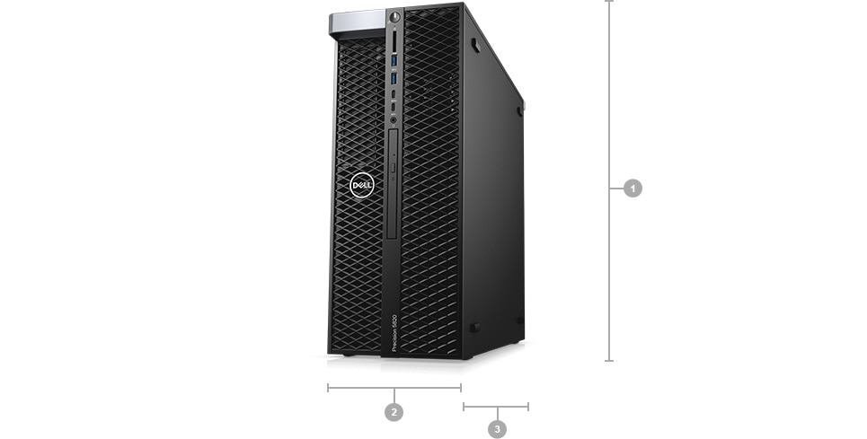 Precision 5820 Tower - Dimensions & Weight