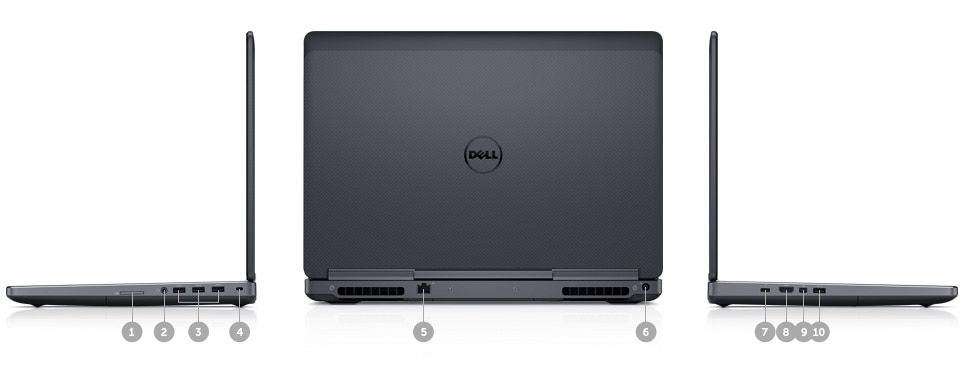 New Dell Precision 15 7000 Series (7510) - Ports & Slots