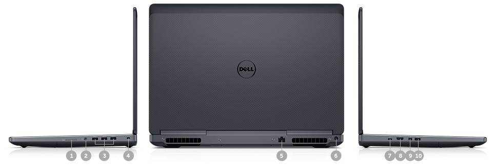 New - Dell Precision 15 7000 Series (7710) - ports and slots