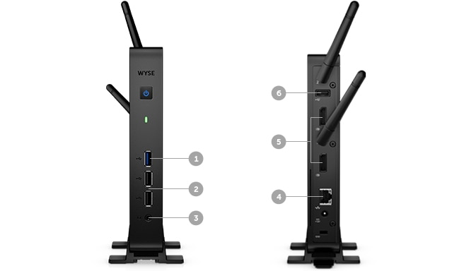 Wyse 3030 Thin Client - Ports and slots (3030 WiFi)