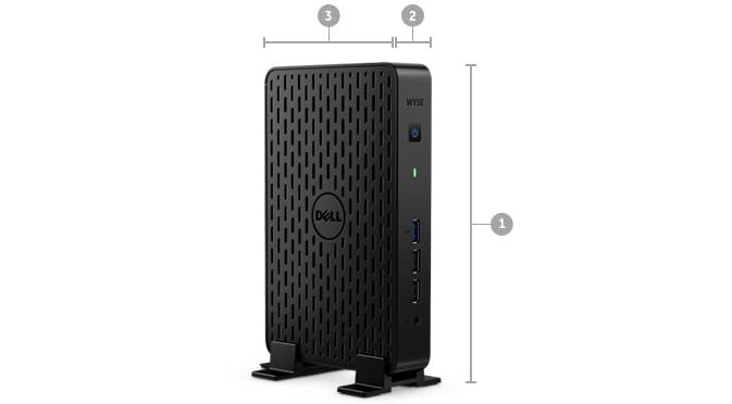Wyse 3030 Thin Client - Dimensions and weight