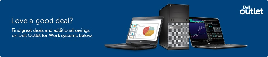 Avail Dell Outlet's Black Friday coupons & Voucher codes on cheap refurbished laptop, desktop PCs and more with free shipping and same as new warranty. Sign In Call us for Free and get Expert Advice on Dell Outlet Systems.