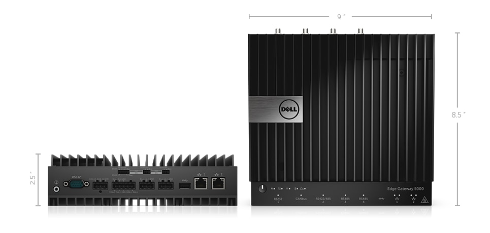 Dell Edge Gateway 5000 - Dimensions and weight