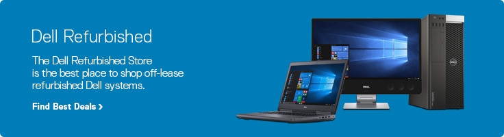 Dell Refurbished Laptops, Desktops, Monitors and Accessories